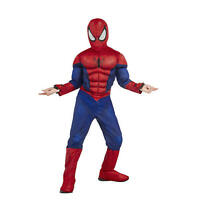 Spiderman Boys Theme Party Muscle Chest Costume W/ Web Shooter Sz L 12-14