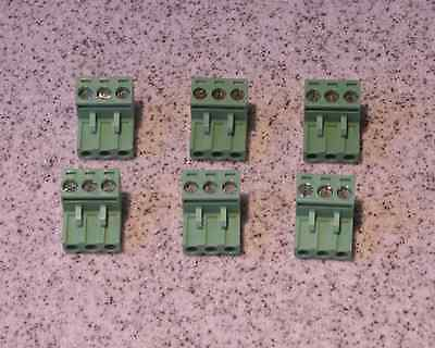 6 pcs., 3 pin, 5.08mm (0.2in) Connector / Terminal Block - Phoenix type plug