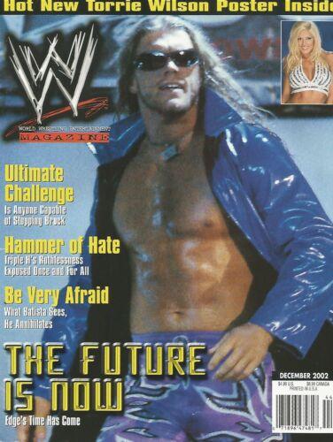DECEMBER 2002 WWE WRESTLING MAGAZINE EDGE RATED R SUPERSTAR WRESTLEMANIA LEGEND