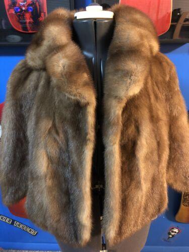 Vintage Stix Baer Fuller Shawl Fur Coat