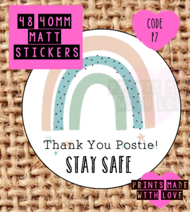 postman woman Thank you postie P7 Stay safe rainbow postie stickers