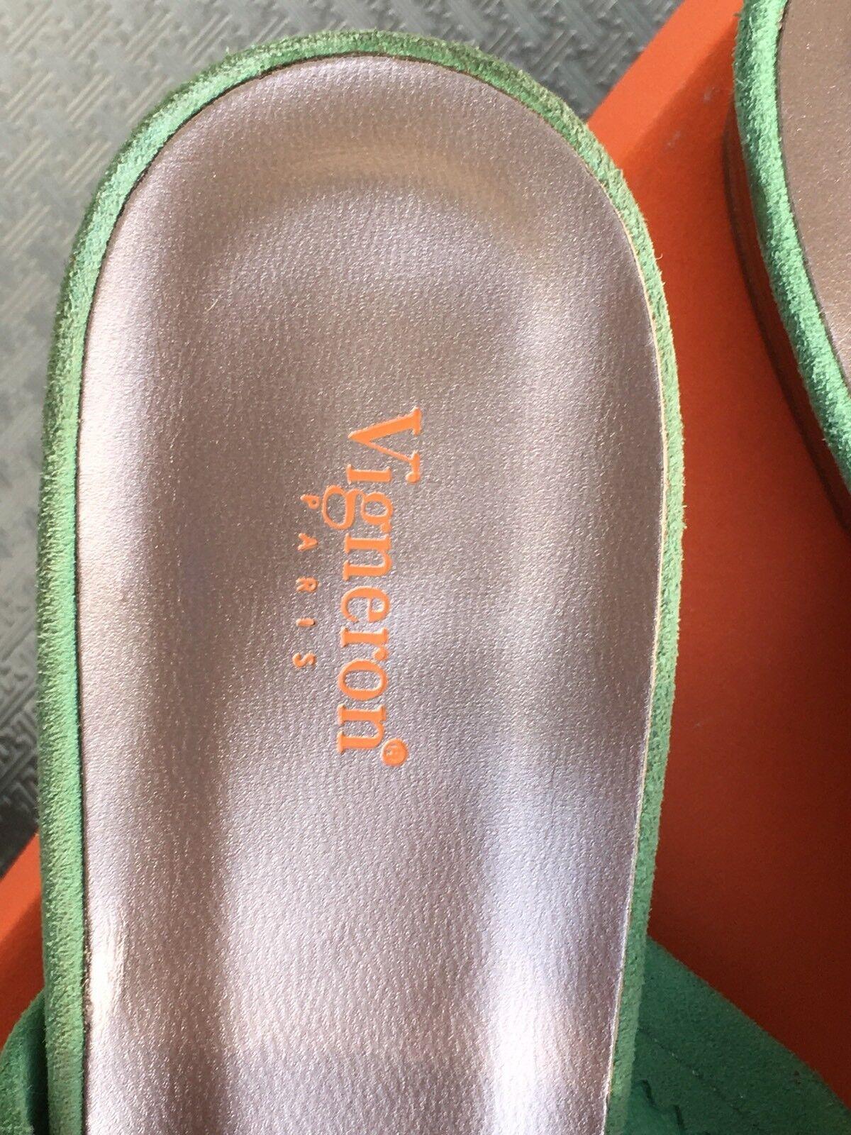 NEU LEDER bequeme Sommer Schuhe Ballerina LEDER NEU Gr.38  grün TOP MADE IN SPAIN 98e493