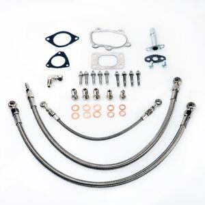 Motors TRITDT Turbo Oil&Water Line Kit For Silvia S14 S15 SR20DET Garrett Ball Bearing Car & Truck Turbo Chargers & Parts