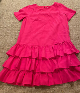 Girls-Kate-Spade-10Y-Hot-Pink-Ruffle-Dress
