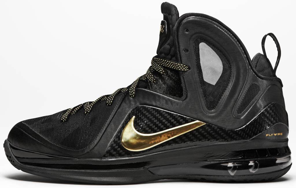 Nike LeBron 9 IX Elite P.S. Black Gold Size 10.5 516958-002 kyrie cavs bhm 10 11