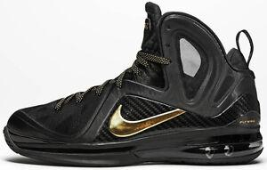 c040309daaa8e2 Nike LeBron 9 IX Elite Black Gold Size 10. 516958-002 watch the ...