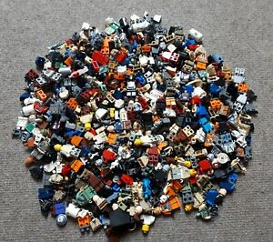 100-g-0-1-kg-LEGO-Star-Wars-Personnages-pieces-Torse-Jambes-tetes-minifig-liasse