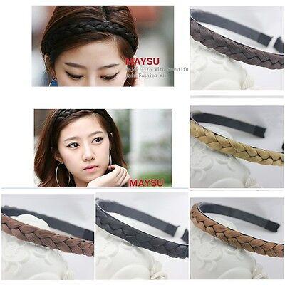 Lady Girl's Wig Braid Hair Bands Hoop Head Buckle Headband Womens Twist Draid