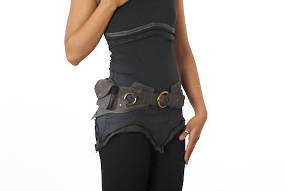Festival hip belt Leather Hip bag Burning man Belt pouch Leather utility bag Festival Belt Bag leather Waist Bag Festival Fanny pack Hippie