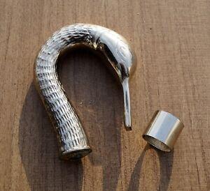 Brass Handle Silver Design Victorian Handle For Walking Stick Top Topper Vintage