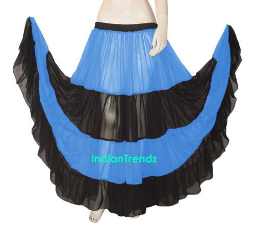 Red /& Black Chiffon 12 Yard 4 Tiered Gypsy Skirt Belly Dance Ruffle Flamenco Mix