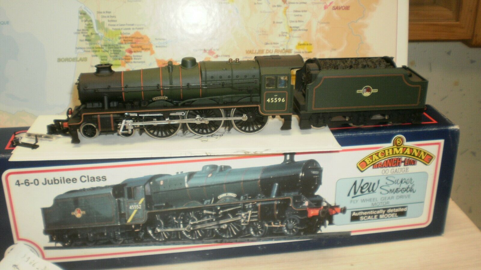Loco vapeur Jubilee classe  Bahamas  GP 45596 BR Bachuomo voie HO 2 rails