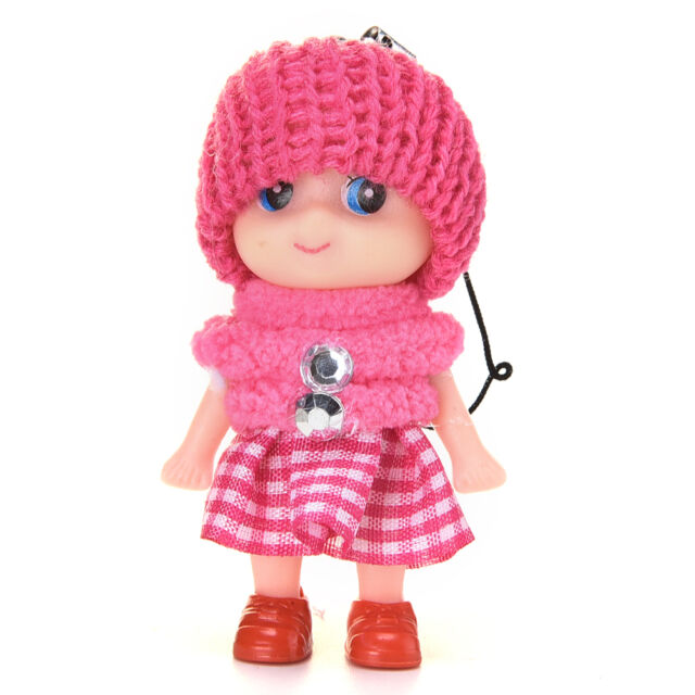 2X Baby Dolls Expression Interactive Mini Doll Cell Phone Keychain Xmas Dolls MT