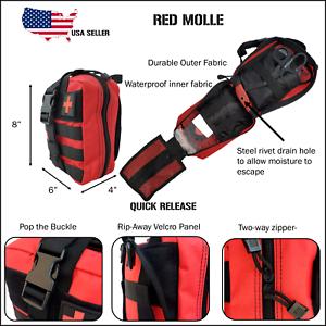 Tactical First Aid Trauma Kit-Molle Pouch, Tourniquet, Israeli Bandage, Shears