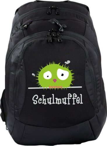 Schulrucksack Teen Compact Rucksack Schule Schulrucksack schwarz Wunschmotiv