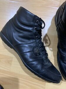 Black High Top Sneakers Size 8