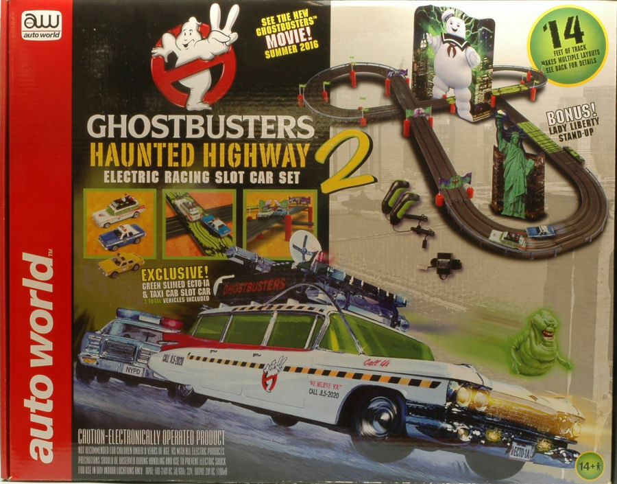 Ghostbusters Haunted Highway Electric Racing Slot Cars 1:64  4,30 mt.  SRS317