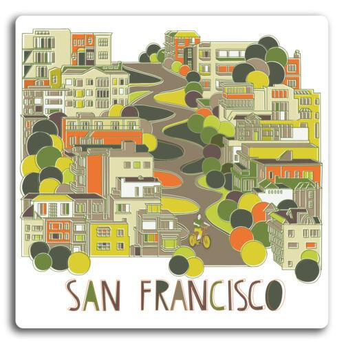 2 X 10cm San Francisco Usa Pegatina-Pegatinas de vinilo Laptop Equipaje Regalo #19406