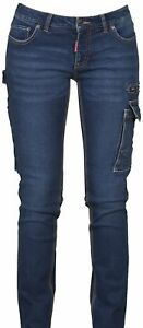 PANTALONE TAGLIO JEANS DONNA MULTITASCHE PAYPER WEST LADY DENIM