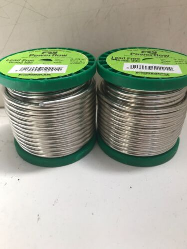 2 x Fernox Solder Wire Powerflow sans plomb 3.25 Mm Diamètre 500 g Grade 99 C