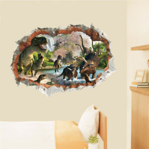 3D Dinosaurs Wall Sticker Decal Art Decor Vinyl Home Room Window ... 8230490aa5