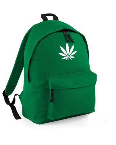 Foglia di Cannabis Zaino Zaino Borsa Marijuana Weed BOY GIRL SCUOLA COLLEGE