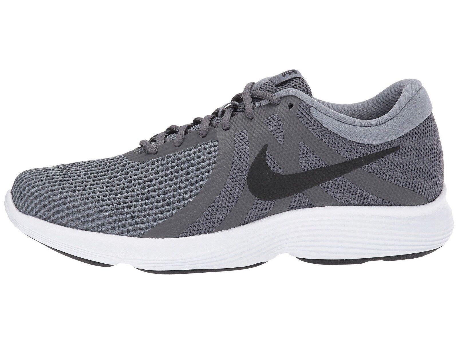 Nike uomini 'rivoluzione 4 (4e), scarpe da corsa aa7402 010 grigio scuro / nero