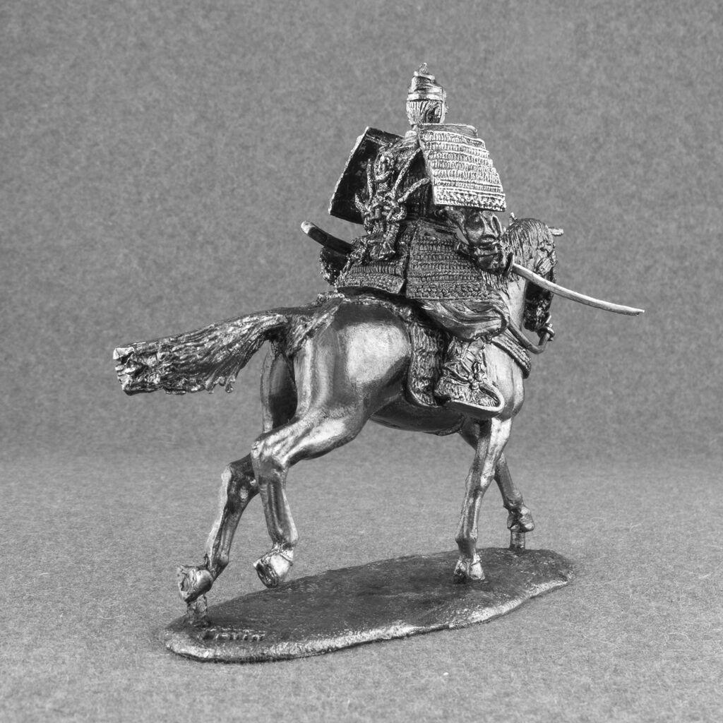 Toy Soldiers Medieval 1 32 Japanese Samurai Samurai Samurai Horse Rider Cavalry 1 32 Tin 54mm 57206b