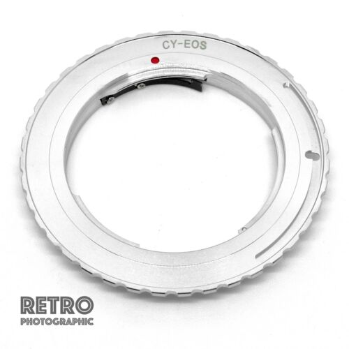 CY-EF Contax Yashica CY Lente adatta per Canon EOS Mount adattatore EF anello-UK STOCK