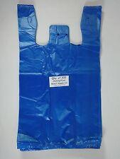 300 Qty Blue Plastic T Shirt Bags With Handles 115 X 6 X 21 Retail Shopping