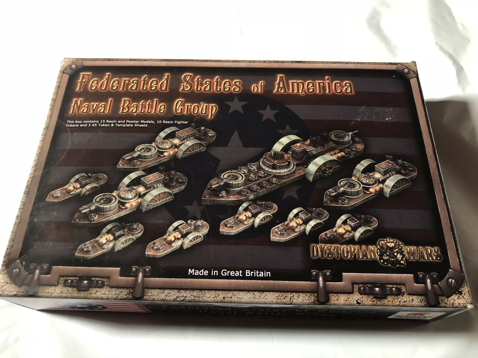 DISTOPIAN WARS FEDERATED STATES OF AMERICA NAVAL BATTLE GROUP, Never Used , Read