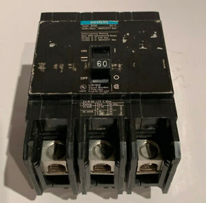 BRAND NEW ITE//Siemens-Type BQD   BQD360   3 Pole 60 Amp 480Volt Bolt-On