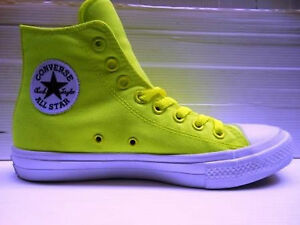 286 CONVERSE SCARPA UOMO CT AS II HI NEON CANVAS 150157 VOLT GREEN EUR 40 UK 7