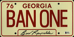 Burt-Reynolds-Signed-Smokey-and-the-Bandit-License-Plate-Ban-One-Beckett-BAS-2