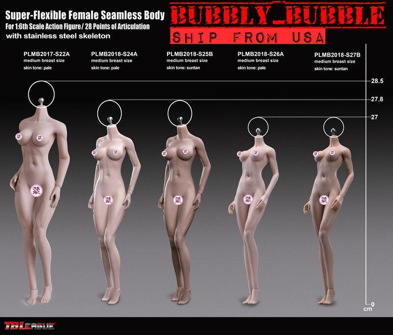 NEW TEEN GIRL TYPE PHICEN 1/6 Steel Skeleton Female Seamless Figure Body  USA