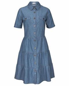 Jeanskleid-Kleid-Hemdblusenkleid-blue-denim-von-Cheer-Gr-46