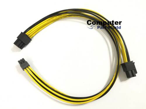 Mini 6pin Male to 6+6pin Male PCIe Power Cable for Mac Pro GPU 35CM+15CM 18AWG