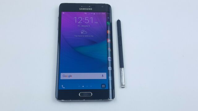Samsung Galaxy Note Edge Sm N915v 32gb Charcoal Black Verizon Smartphone For Sale Online Ebay
