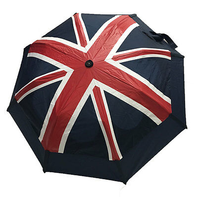 Gustbuster Metro Auto Vented Folding Umbrella - Union Jack