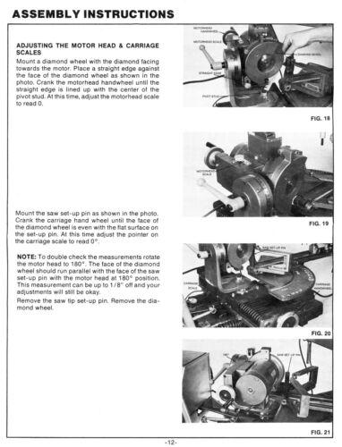 FOLEY Belsaw 3680920 Automatic Carbide Grinder Instructions /& Parts Manual 1141