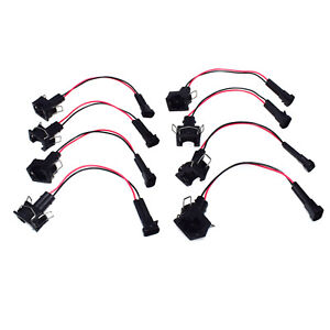 8pcs wire harness adapters plug lq4 lq9 4 8 5 3 6 0 injectors to ls1 rh ebay com lq4 wiring harness removal lq4 4l80e wiring harness