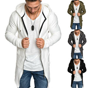 Men-Hoodie-Coat-Zip-Jumper-Slim-Fit-Casul-Sweatshirt-Sweater-Long-Jacket-Outwear