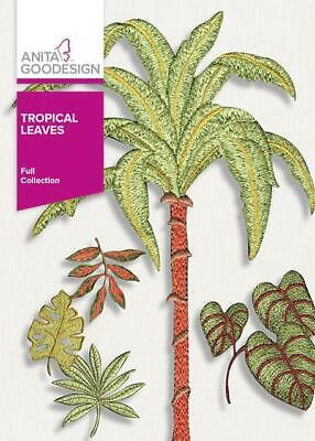 Tropical Leaves Anita Goodesign Embroidery Machine Design Cd New 11aghd Ebay Template for design of clothes. ebay