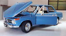 G LGB 1:24 Scale Blue BMW 2002 Ti Tii 1966 Detail Welly Diecast Model Car 24053