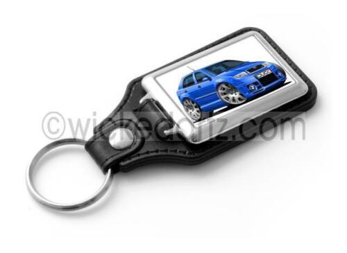 WickedKarz Cartoon Car Skoda Fabia MK1 vRS in Blue Stylish Key Ring DK