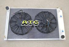 For 70-81 Chevy Camaro/75-79 Nova/70-87 BUICK REGAL Aluminum Radiator + 2 fans