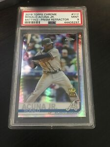 Ronald-Acuna-Jr-2019-Topps-Chrome-Refractor-117-GOLD-CUP-PSA-Mint-9-Braves