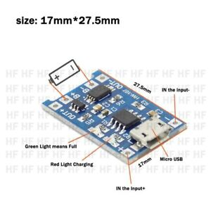 2PCS TP4056 5V 1A USB 18650 Lithium Battery Charger Board Protection Module HK