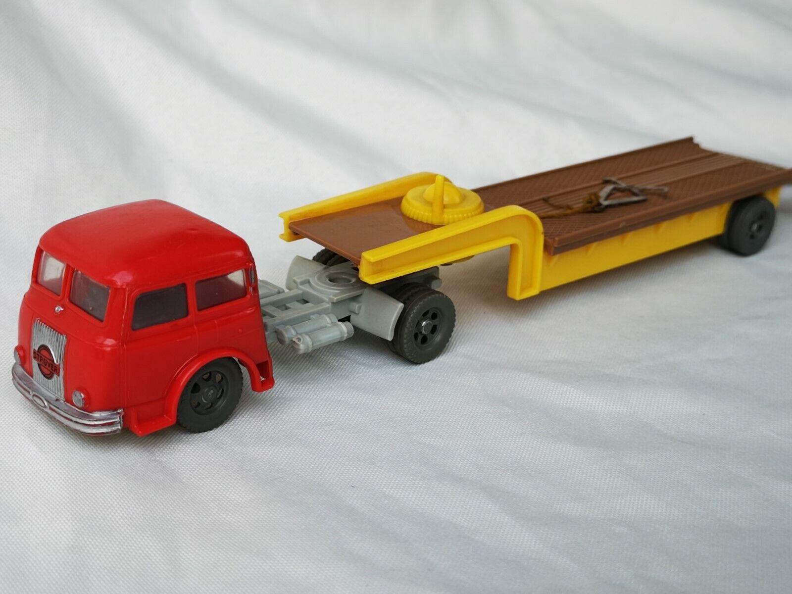 Siku plástico v43 grúa con cabrestante Henschel camión con remolque
