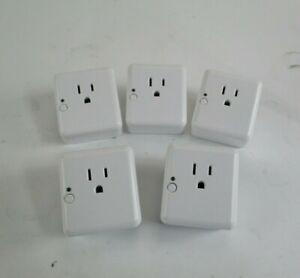 Lot-of-5-Z-Wave-Plus-Smart-Plug-Model-3210-L-White-Zigbee